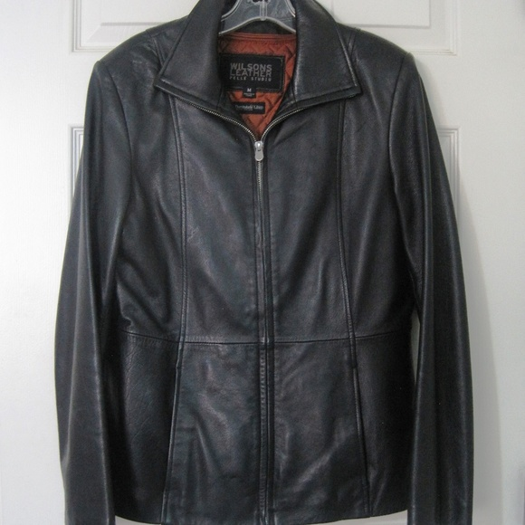 7f8337604 Wilson's Leather Pelle Studio Thinsulate Blk Jkt